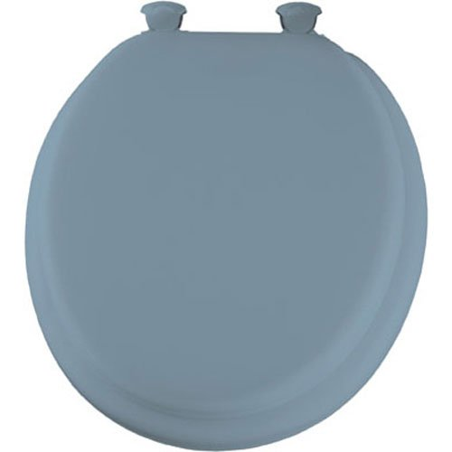 Mayfair Deluxe Soft Round Toilet Seat in Light Blue 13 034 by Bemis (Wc-sitz Round Soft)