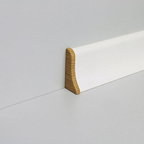 Endkappen Kunststoff für Profilsockelleiste geschäumt Links und Rechts Eiche (Endkappe Eiche)