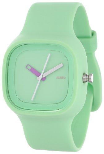 Alessi - AL10024 - Montre Mixte - Automatique - Analogique - Bracelet Plastique Vert