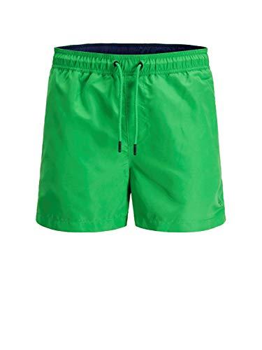 JACK & JONES Cali - Bañador, Hombre, 12147041, Green - Dark Blue, Small