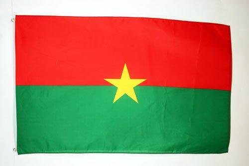 AZ FLAG Flagge Burkina FASO 90x60cm - Burkina FASO Fahne 60 x 90 cm - flaggen Top Qualität