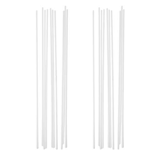 Satz / 20 Stücke ABS Kunststoff Runde Rohr Architekturmodell Machen Sand Tisch