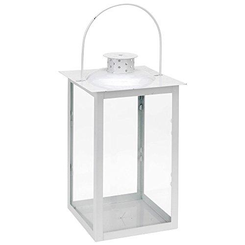 Laterne aus Metal und Glas 30x17x17 cm