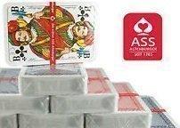 ASS Altenburger Karten Spielkarten in Profi-Qualität für Romme, Bridge, Canasta, Poker oder Skat geeignet/ 8 Spiele Decks a 55 Blatt Rot-Blau - 5 Blatt 52