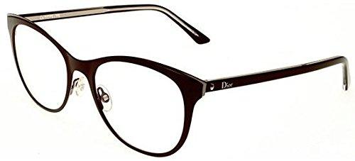 Dior Brillen Für Frau MONTAIGNE13 MVZ, Bordeaux / Ruthenium / Transparent Black Metallgestell