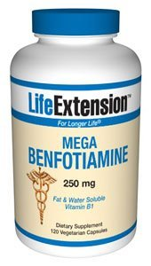 Life Extension Mega Benfotiamine 250 mg, 120 vegetarian capsules ( Multi-Pack) from Life Extension