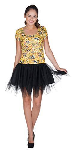 Kleid Emoji Damen gelb L (Emoji-kleider Für Frauen)