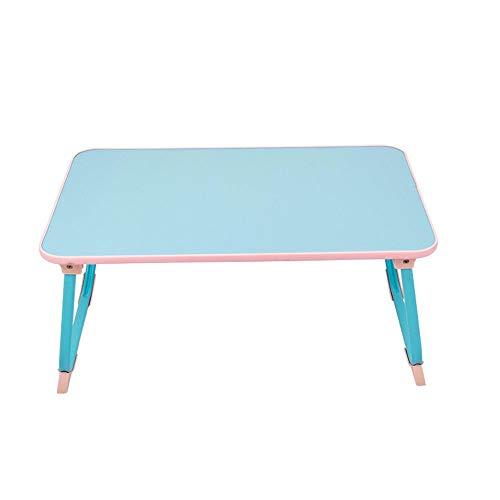 RANRANJJ Faltbarer Laptop-Stehpult, tragbarer Laptop-Tisch-Notebookständer, Frühstücks- und Bettablage, Klapphalter für Erwachsene (Farbe : Blau)