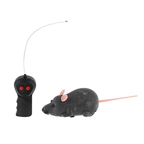 SM SunniMix Elektrische Laufende Bewegende Ratte Maus Katzenspielzeug mit Fernbedienung - Grau