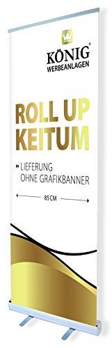 Roll Up Keitum 85x200cm | ohne Banner, ohne Druck | einseitiges Alu Roll-Up, Silber eloxiert | inkl. Tragetasche | Rollup Banner Bannerdisplay Werbebanner Aufsteller für Werbung | Dreifke®