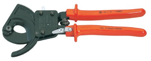 DRAPER EXPERT 250MM KNIPEX RATCHET ACTION CABLE CUTTER