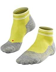 FALKE Ru4 Check Short - Calcetines de Running para Hombre, Hombre, 16740, Sulfur (1084), 39-41