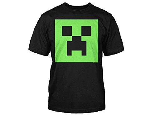 Minecraft Creeper Glow in the Dark Youth T-Shirt, Black - Medium (Glow Youth-t-shirt)