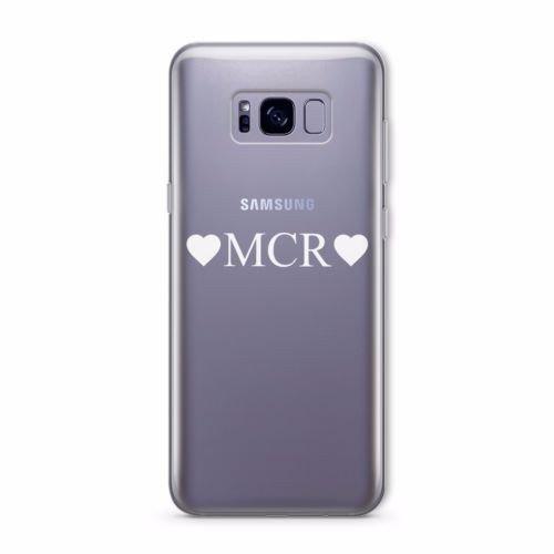 Personalisierte klar blickdicht Initialen Schutzhülle für Samsung Galaxy Serie, plastik, Initial Small Bottom, Initial Small Bottom, Samsung Galaxy S8 Edge Initial Double Heart, Initial Double Heart