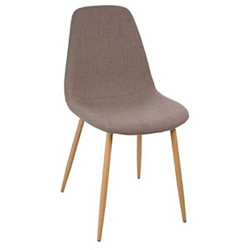 Lot de 4 Chaises en bois coloris Taupe - Dim : L45 x l53 x H87 cm - PEGANE -