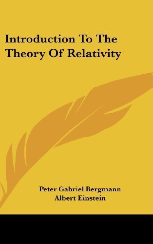 Introduction to the Theory of Relativity by Bergmann, Peter Gabriel (2008) Hardcover