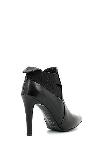 CAF NOIR schwarze Schuhe MC146 Mast Buchse Ferse elastische Spitze I16.010 NERO