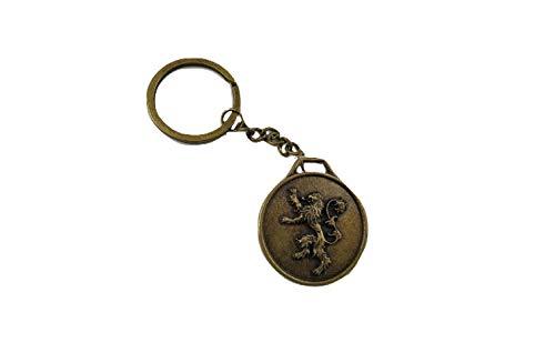 WoloShop Schlüsselanhänger Medaillon Game of Thrones Spiel der Throne Bronze (Lannister) -