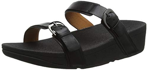 Fitflop Damen Edit Slide Sandalen, Schwarz (Black 001), 41 EU
