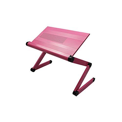 ZOUQILAI Tragbarer Lap Table Faltbarer Laptop Tisch Notebook Schreibtischständer Büro Wärmeableitung Tisch Computer Tisch Rosa (Hund-tisch Kindersitz)