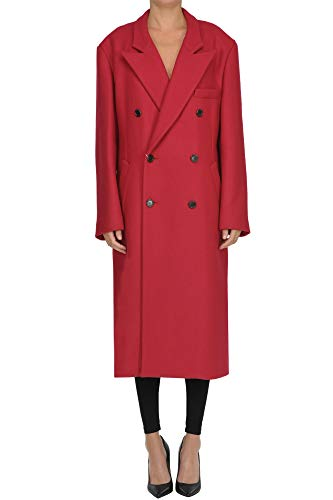 Maison Margiela Oversized Double Breasted Coat Woman Red 36 IT
