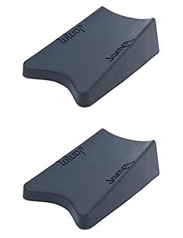 THE #1 Rated Doorstop. Outperforms all other door stops and door wedges. Its unique Award winning design holds doors fast from both sides at the same time. Premium Non Rubber Hardware. Food-grade materials. BpA, Lead and Phthalate free. (Double pack, Dark Grey)