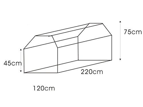 Bâche rectangulaire pour table et banc de jardin