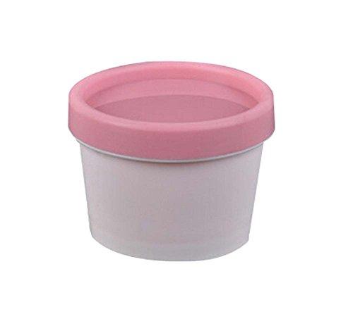 Set de 4 Crème bouteilles réutilisables / Container / Voyage, Rose / blanc