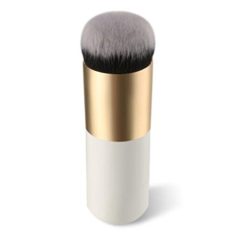Electomania™ Makeup Cosmetic Face Powder Blush Brush, White & Golden