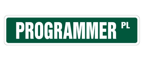 Programmatore Street Sign programma it code writing | indoor/outdoor | Larghezza 45,7cm
