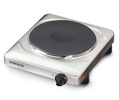 ROMMELSBACHER THS 2022/E Einzelkochplatte Gastro (XXL Profi-Gussheizplatte mit 220mm Durchmesser, 2000 W, Made in Germany) Edelstahl