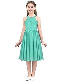 b0f1e2fe7 iEFiEL Vestido Corto De Comunión para Niña (4-14 Años) Infantil Vestido De