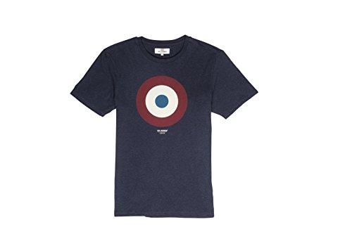 ben-sherman-target-tee-t-shirt-uomo-blu-nave-blazer-b51-xl