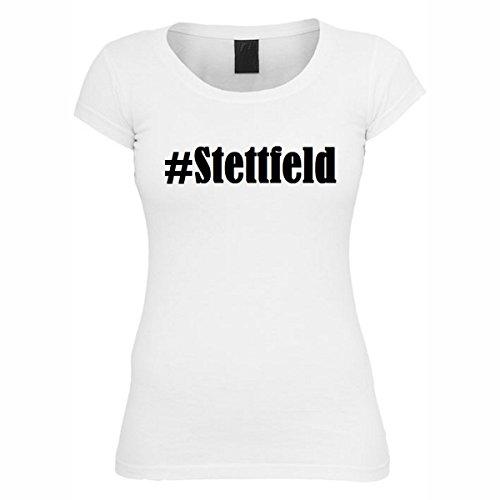 T-Shirt #Stettfeld Hashtag Raute für Damen Herren und Kinder ... in den Farben Schwarz und Weiss Weiß