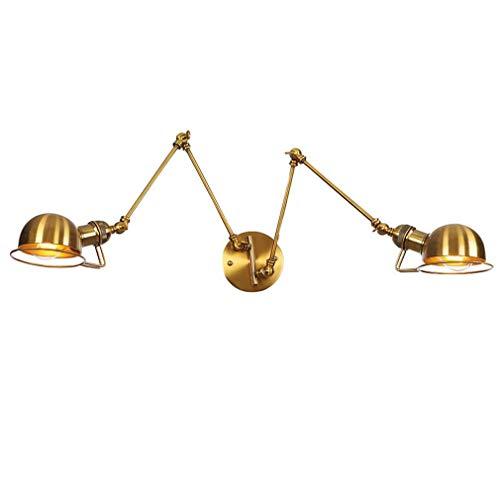 Industrielle Wandlampe Bronze, Schmiedeeisen 1-Light Swing Arm Wandleuchte, Nachttischlampe, Wohnzimmer Bar Western Restaurant Wandleuchte,3 -