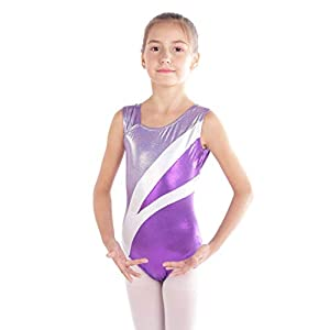 Sinoem Gymnastik Turnanzug Mädchen Kinder Ärmelloses Ballett Ballettröckchen Kleid Trikotanzug Tanz Kleid Akrobatik Training Dancewear