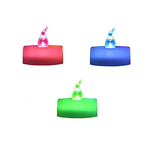 Trimming Shop LED Tee Lichter Flackernd Flameless Kerze Bernstein und Multi Farbig Batterienbetrieben für Dekoration, Festivals, Hochzeiten - Multi, 36 Pcs (Multi Farbige Kerzen)