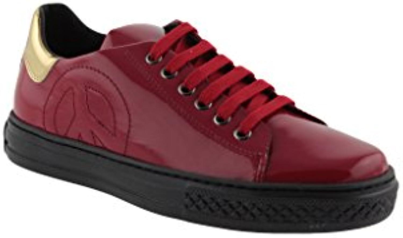 Moschino - Zapatillas de Piel para mujer Rojo rojo