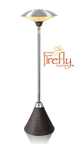 Firefly 2.100 Watt Infrarot-Heizstrahler (Halogen) Terrassenheizung, freistehend, 3 Leistungsstufen, Braun