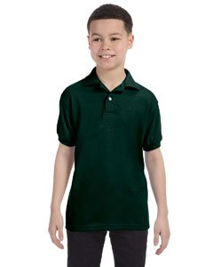 Jugend Kurzarm Stricken Tag-Free Label Polo Jersey, Deep Forest, X-Small - Jugend Jersey Polo