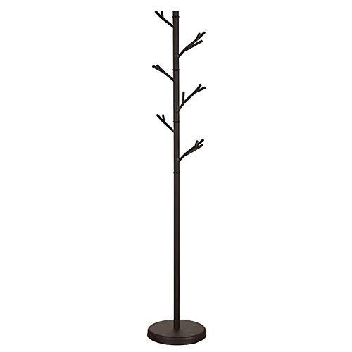Hall Tree Set (Barture Kleiderablage Geldbörse Rack Hall Tree Shelf Eisen Mit 6 Haken Leicht Zusammenzubauen Geeignet Für Kleid, Jacke, Hut Und Regenschirm (Color : Black))