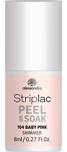 alessandro Striplac Peel or Soak Baby Pink - LED-Nagellack in natürlichem Rosé - Für perfekte Nägel in 15 Minuten - 1 x 8ml
