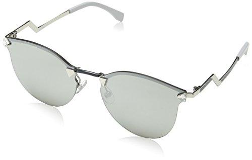 Fendi ff 0040/s ss wq6 60, occhiali da sole donna, blu (pallid bluette/grey sp silver)