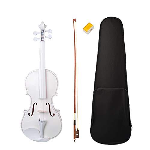 Almencla Weiß 4/4 Größen Akustische Elektrische Violine Mit Fall Bogen Kolophonium Für Musikfreunde
