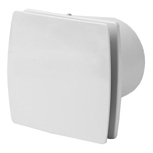 100mm Bad-Lüfter mit Feuchtesensor und Timer , Ventilator , Leise , Weiß -