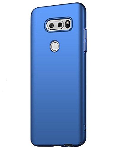 AOBOK LG V35 ThinQ Hülle, Ultra Dünne Slim Hardcase mit Kratzfest Schutzhülle Leichtgewicht Schutz Schale HandyHülle Matt Case Cover für LG V35 ThinQ - Dunkelblau