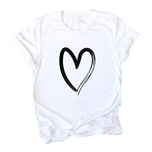 Setsail Damen Fashion O-Neck Kurzarm-Taschensack Plus Size Cotton Casual Top Bequemes Joker Alltagskleidung Lose Tops Dünnschnitt Bluse...