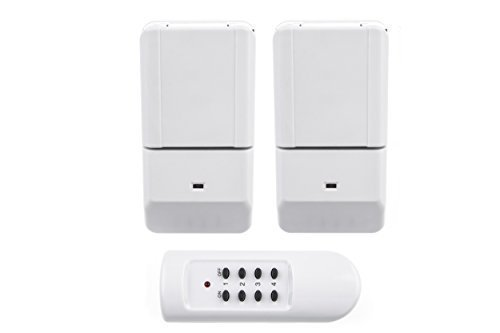 HUBER COMFY 5 Funkschalter Outdoor Set für den Innen-und Außenbereich, zwei Funksteckdosen IP44 1100 Watt und eine Fernbedienung
