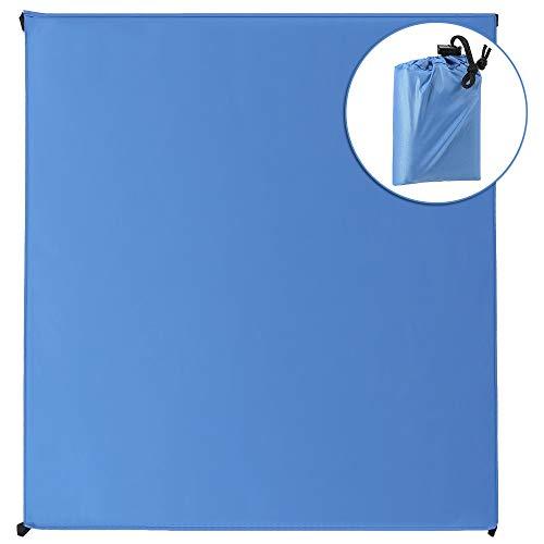 Tragbare wasserdichte, sanddichte Picknickdecke-Leichtbaupads und Tragetaschen-geeignet für Camping, Picnicking, Strandfahrten, Wandern und Outdoor-Aktivitäten XXXXL Blue