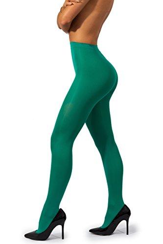 sofsy undurchsichtige Microfibre Strumpfhose Unsichtbar verstärkt undurchsichtig Control Top Brief 40Den [Hergestellt in Italy] Avocado Grün Avocado Green 2 - (Kostüm Heather Lang)